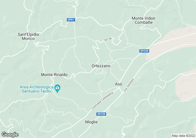 Map for Le Marche, Fermo, Ortezzano