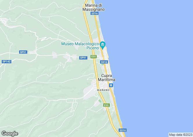 Map for Le Marche, Ascoli Piceno, Cupra Marittima