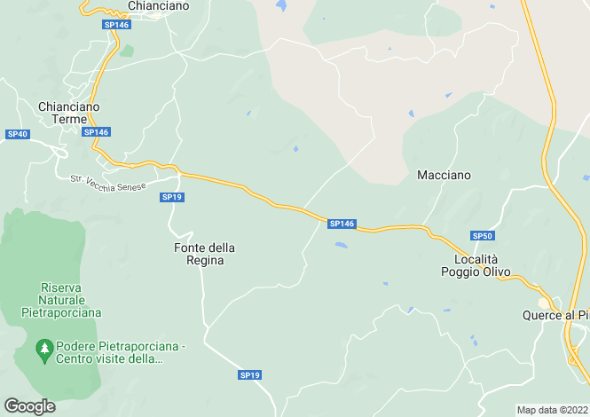 Map for SP146, Chiusi, Tuscany