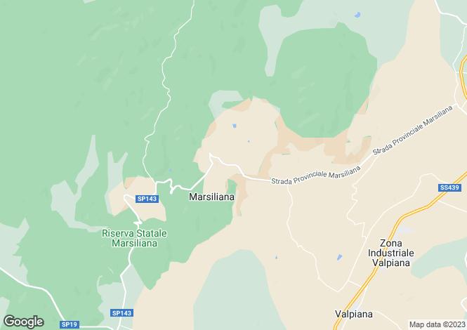 Map for Massa Marittima, Grosseto, Italy