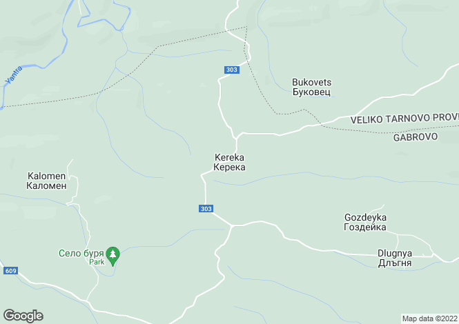 Map for Kereka, Gabrovo
