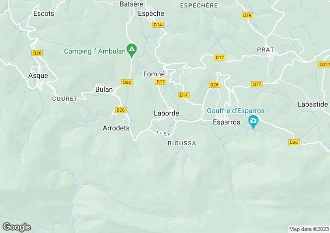 Map for laborde, Hautes-Pyrénées, France
