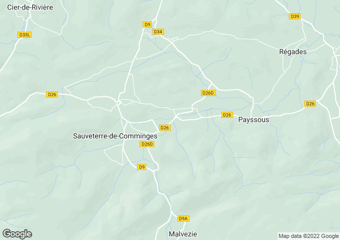 Map for sauveterre-de-comminges, Haute-Garonne, France