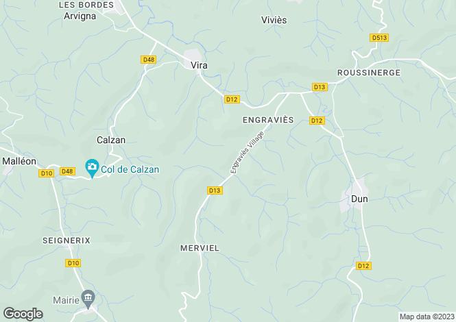 Map for Engraviès, Ariège, Midi-Pyrénées