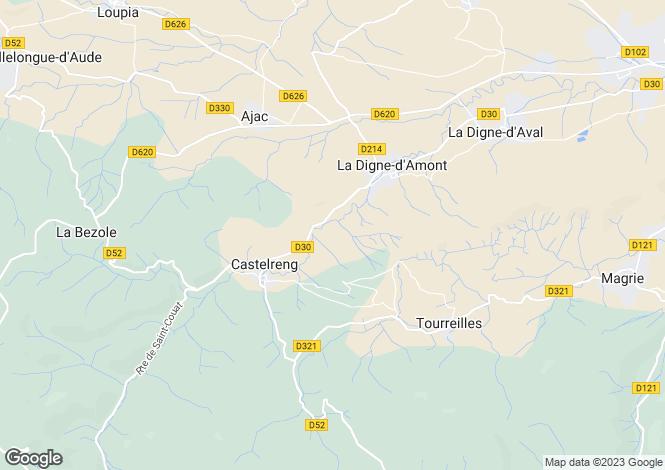 Map for La Digne-d'Amont, Aude, 11300, France