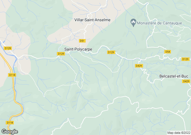 Map for St-Polycarpe, Aude, Languedoc-Roussillon