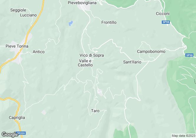 Map for Le Marche, Macerata, Fiordimonte