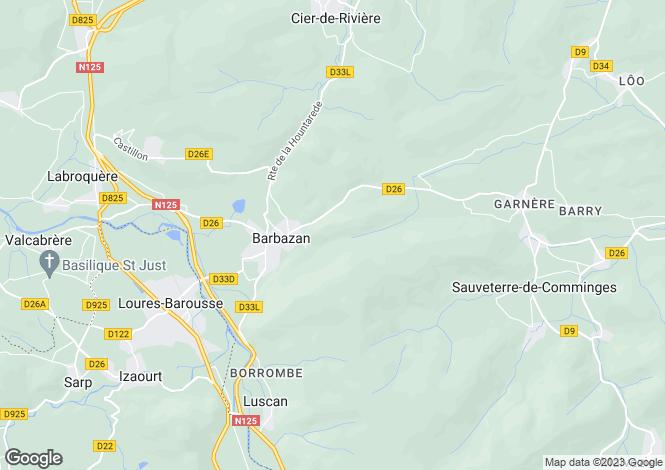 Map for barbazan, Haute-Garonne, France