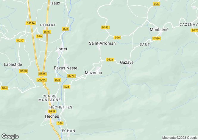 Map for Lannemezan, Hautes-Pyrénées, Midi-Pyrénées