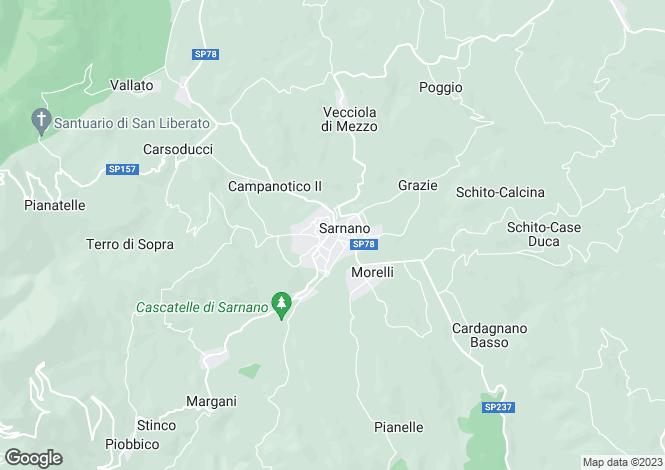 Map for Le Marche, Macerata, Sarnano
