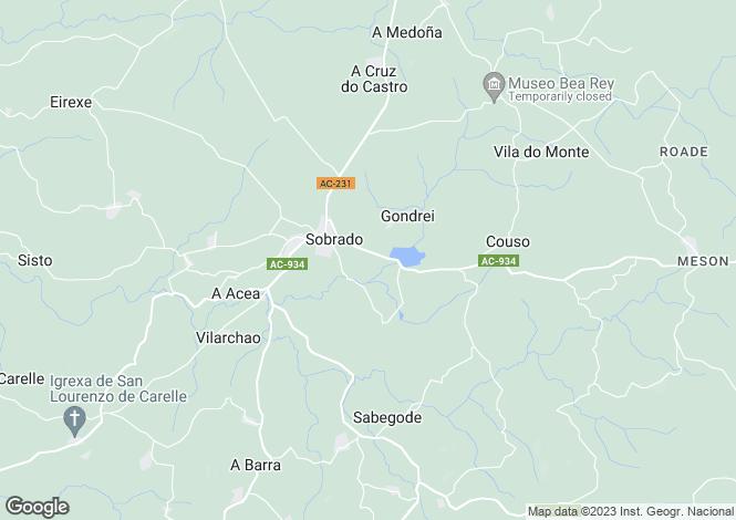 Map for Galicia, A Coruña, Sobrado
