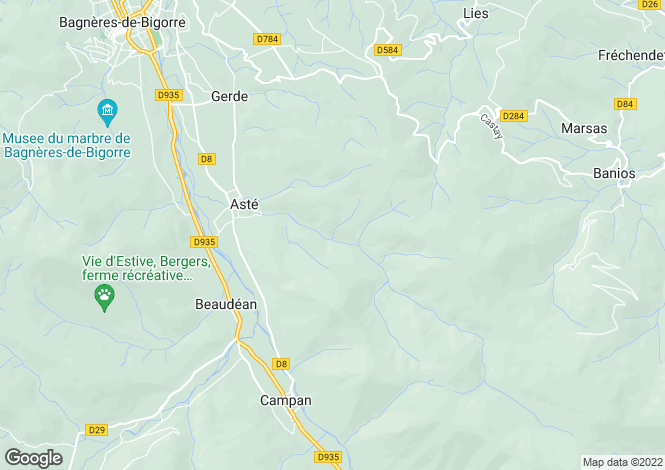 Map for oursbelille, Hautes-Pyrénées, France