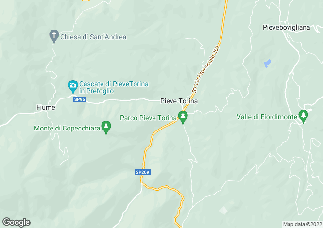 Map for Le Marche, Macerata, Pieve Torina