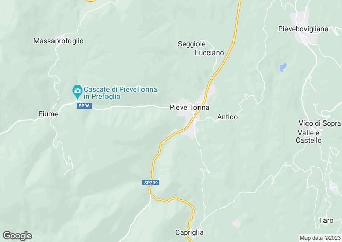 Map for Pieve Torina