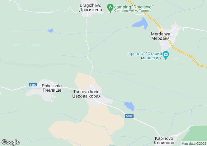 Map for Tserova Koriya, Veliko Tarnovo