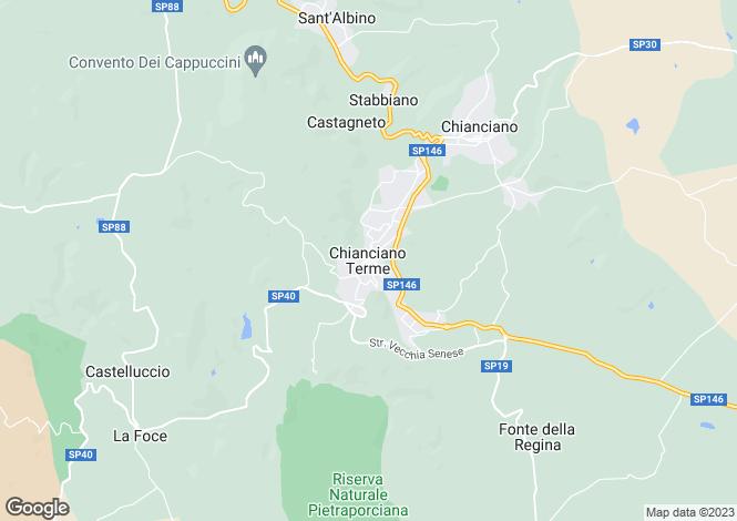 Map for Chianciano Terme, Tuscany, Italy
