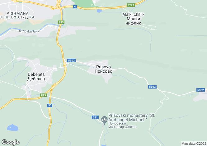 Map for Prisovo, Veliko Tarnovo