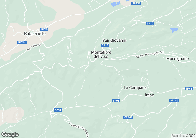 Map for Montefiore dell`Aso, Ascoli Piceno, Le Marche