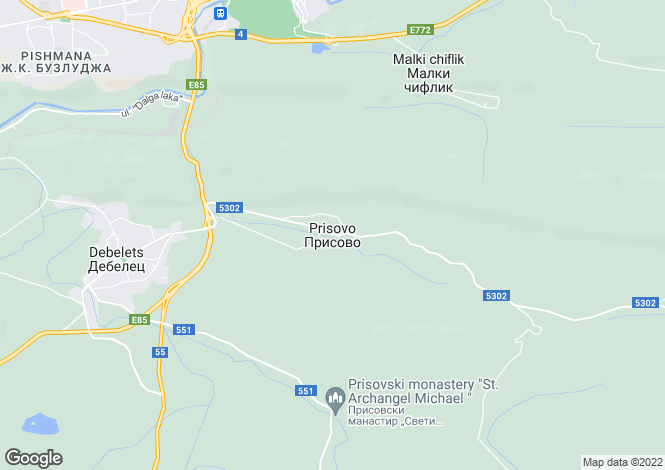Map for Prisovo, Veliko Tarnovo