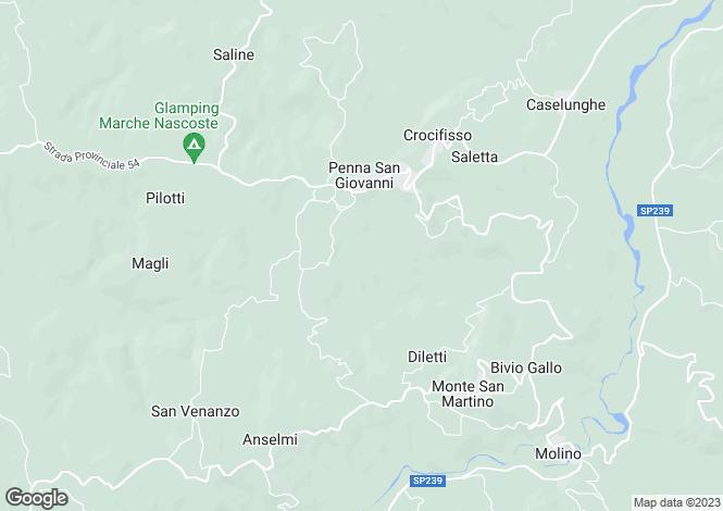 Map for Le Marche, Macerata, Penna San Giovanni