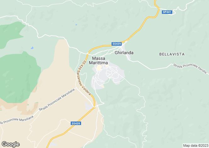 Map for Massa Marittima, 58024, Italy