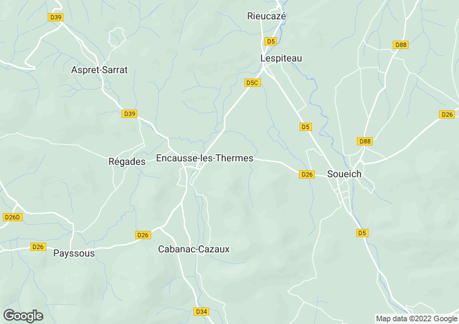 Map for encausse-les-thermes, Ariège, France