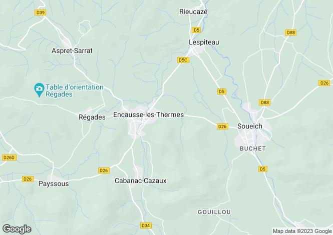 Map for encausse-les-thermes, Haute-Garonne, France
