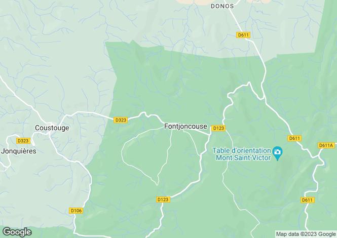 Map for fontjoncouse, Aude, France