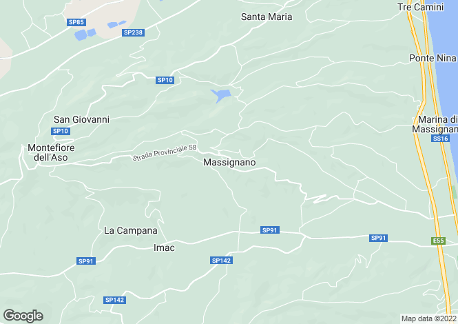 Map for Le Marche, Ascoli Piceno, Massignano