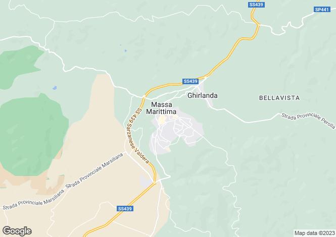 Map for Tuscany, Grosseto, Massa Marittima