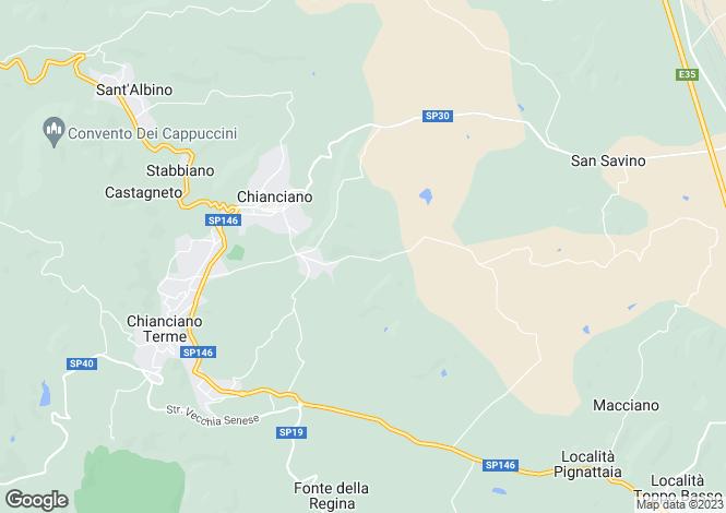 Map for Strada delle Cavine e Valli, Chianciano Terme, Tuscany