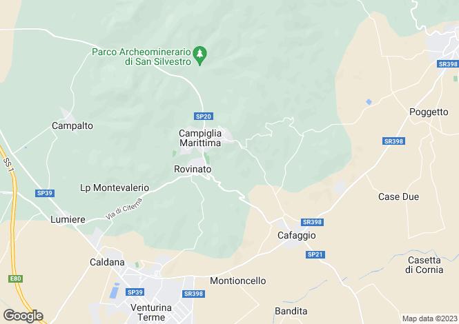 Map for Campiglia Marittima, Livorno, Tuscany