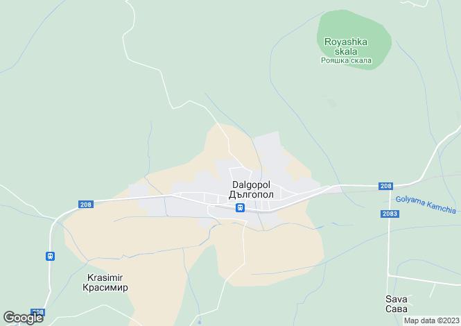 Map for Varna, Dulgopol