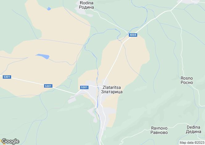 Map for Zlataritsa, municipality Zlataritsa