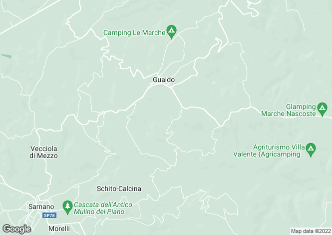 Map for Gualdo, Macerata, Le Marche