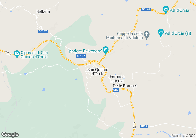 Map for Italy - Tuscany, Siena, San Quirico d`Orcia
