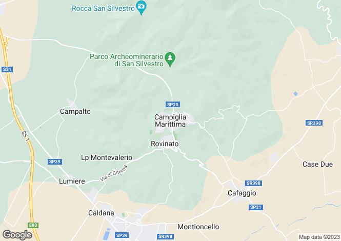 Map for Campiglia Marittima, Tuscany, Italy