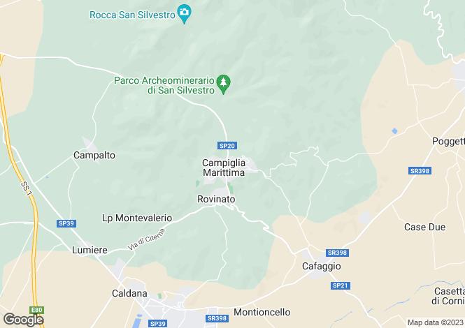 Map for Tuscany, Livorno, Campiglia Marittima
