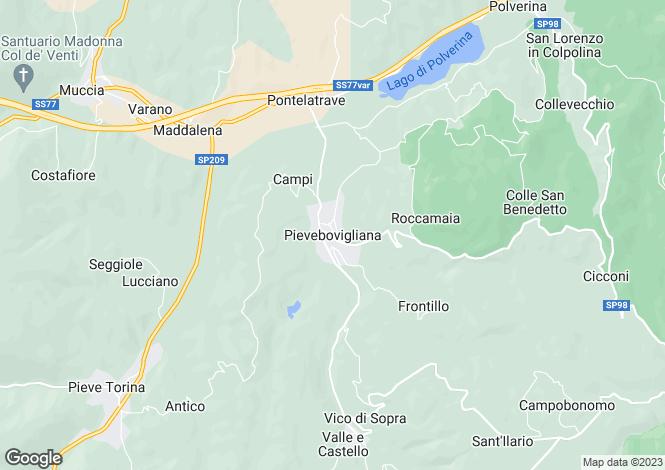 Map for Pievebovigliana