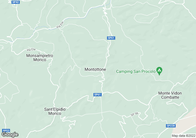 Map for Le Marche, Fermo, Montottone