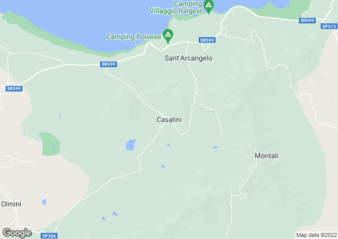 Map for Casalini, Panicale, Umbria, Italy