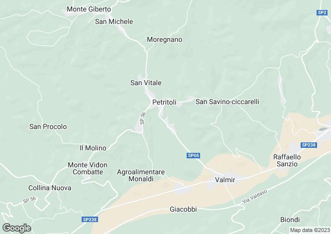 Map for Le Marche, Fermo, Petritoli