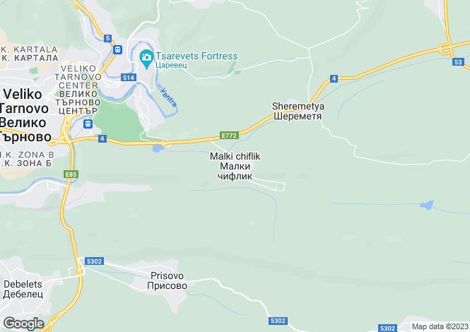 Map for Malki Chiflik, Veliko Tarnovo