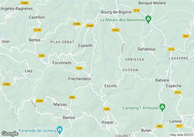 Map for frechendets, Hautes-Pyrénées, France