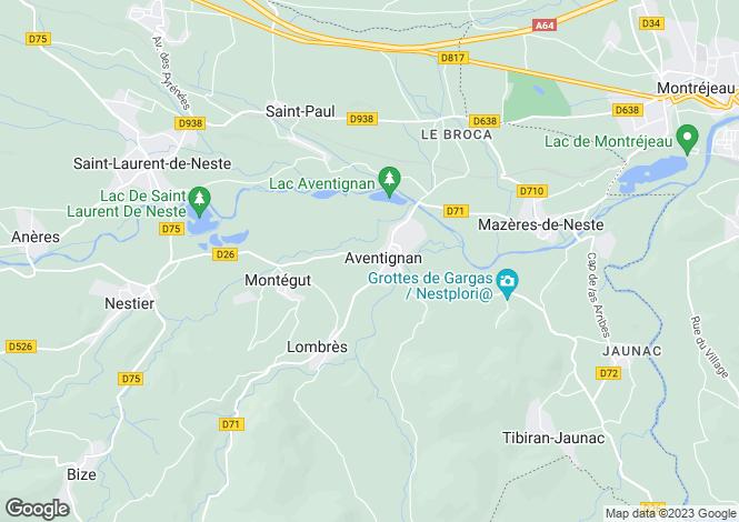 Map for st-paul, Hautes-Pyrénées, France