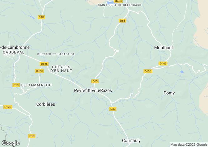Map for Languedoc-Roussillon, Aude, Carcassonne