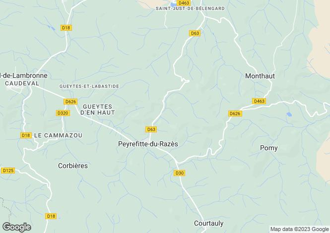 Map for Carcassonne, Aude, Languedoc-Roussillon