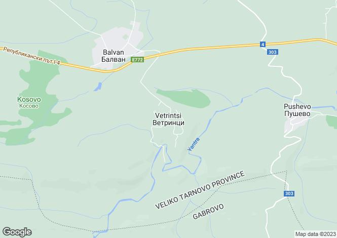 Map for Vetrintsi, Veliko Tarnovo