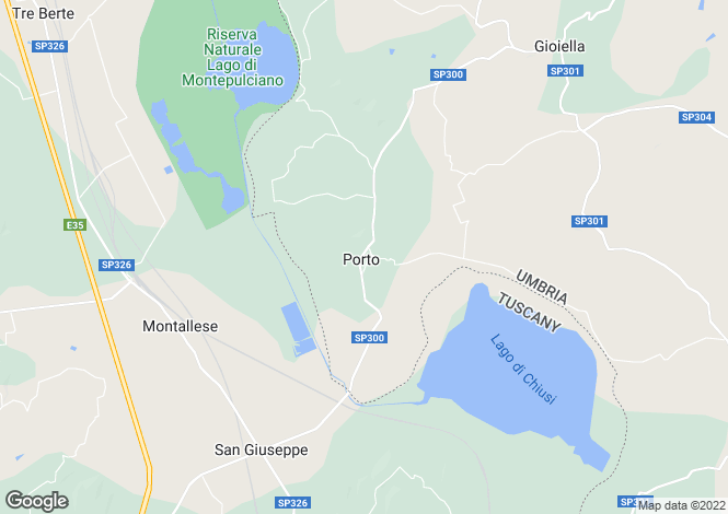 Map for Castiglione del Lago, Perugia, Umbria