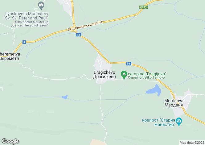 Map for Veliko Tarnovo, Lyaskovets